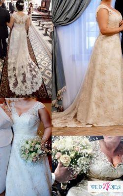 Bajkowa suknia ślubna r.40