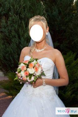 Bajkowa suknia ślubna rozm 38 - jak nowa
