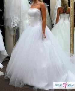 bajkowa suknia ślubna rozmiar 36,38 , piękna!!!!!!!