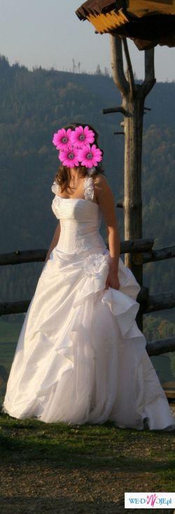 Bajkowa suknia ślubna z kolekcji sincerity, rozmiar 38, biała