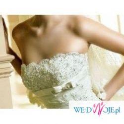 Bardzo kobieca i urocza suknia ślubna-White One 176