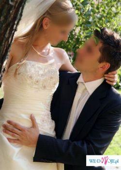 Bardzo ładna włoska suknia ślubna