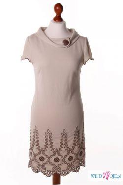 Beżowa sukienka Twiggy