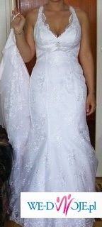 biała, koronkowa suknia Cosmobella 2009 w bardzo dobrym stanie!