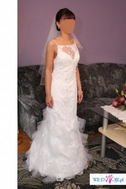 Biała koronkowa suknia ślubna CYMBELINE