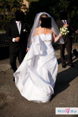 Biała, piękna suknia ślubna! Rozmiar 36/38