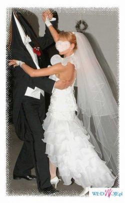 Biała śliczna suknie ślubna - sama zobacz!!