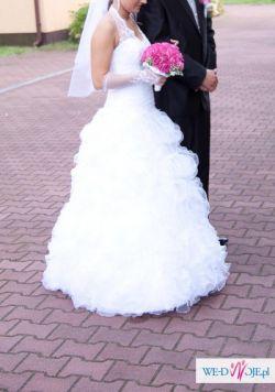 biała ślubna suknia hiszpanka TANIO!!!!