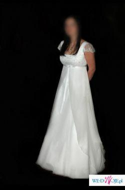 biala suknia empire