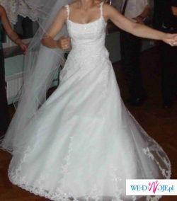 Biała suknia francuskiej firmy Herms model MALD
