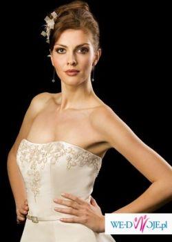 biała suknia ślubna 34-36 firmy Herms z salonu Jaqueline w Lublinie