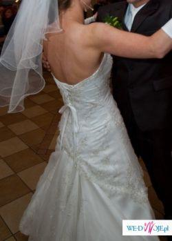 biała suknia ślubna 36-38