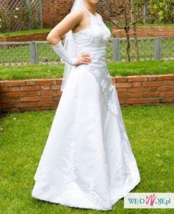 biała suknia ślubna 38 40 M L