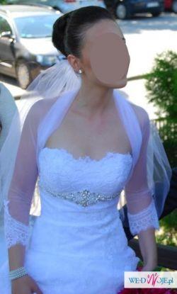 """biała suknia ślubna """"A"""""""