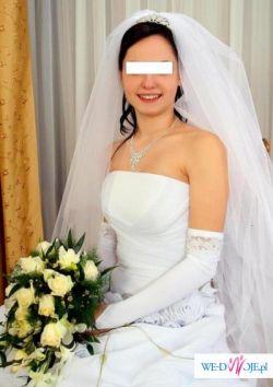 Biała suknia slubna +dodatki