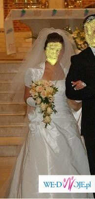 biała suknia ślubna +dodatki( na 160cm +5,5 cm obcas)