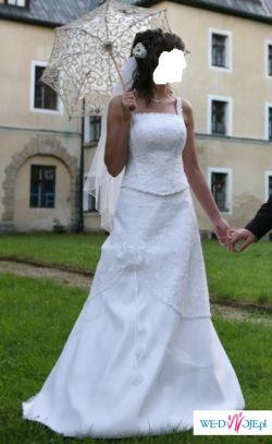 Biała suknia ślubna dwuczęściowa rozm 36 38 DUŻO ZDJĘĆ 600zł