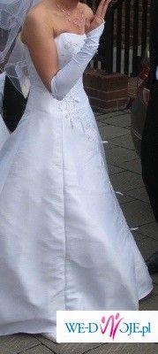 biała suknia ślubna firmy Aspera