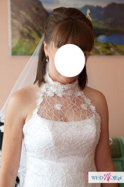 Biała suknia ślubna firmy SPOSA model Ancona