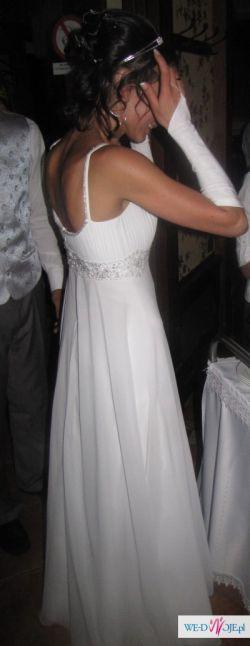 Biała suknia ślubna, rekawiczki gratis