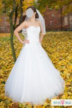 Biała suknia ślubna, rozm. 36-38