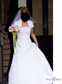 Biała suknia ślubna rozm. 38 - STAN IDEALNY !!!