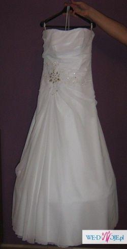 Biała suknia ślubna rozm. 42-44