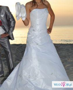Biała suknia ślubna rozmiar 38
