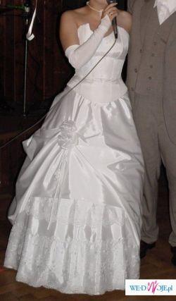 Biała suknia ślubna - stan idealny.