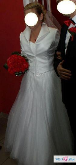 biała suknia typu princessa 38-42