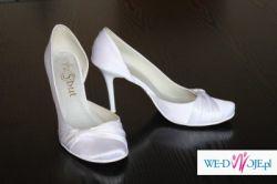 Białe buty ślubne rozmiar 38