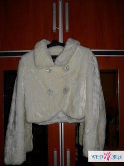 525c3eeeb6 białe futerko ślubne roz m - Dodatki do sukni - Ogłoszenie - Komis ...