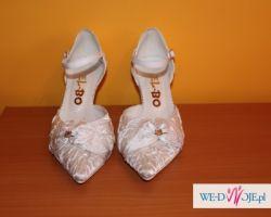 Białe ślubne buty roz 35 wyjątkowe