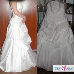 Białka Suknia ślubna