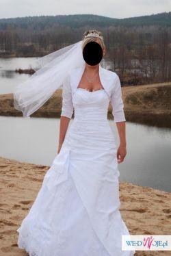 Bialutka suknia ślubna