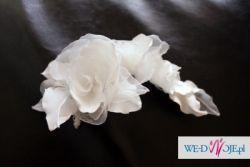 Biały kwiat do włosów, ozdoba, 25zł