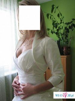 Bolerko ślubne - pięknie eksponujące dekolt sukni!!!