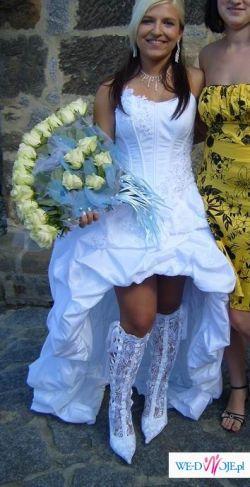 Boska Suknia Krótka Z Przodu Długa Z Tyłu Suknie ślubne