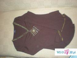 Brązowa bluzka - rozmiar 40