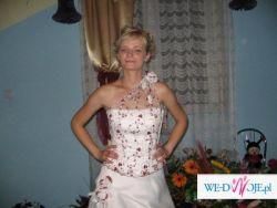 Brdzo efektowna, śliczna suknia ślubna