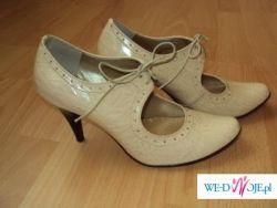 Buty dla wyjątkowej kobiety - r.38 - ślub, ecru