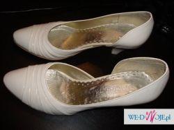 Buty skórzane ecru 36