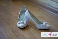 Buty ślubne białe ze skóry