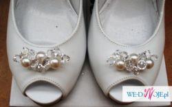 Buty ślubne La Boda, zdobione kryształami Swarovskiego