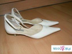 Buty ślubne- mały obcas - skóra GATUZO