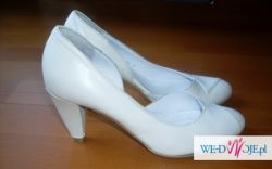 Buty ślubne RYŁKO ecru , śmietankowe 36