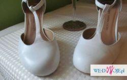 Buty ślubne skórzane