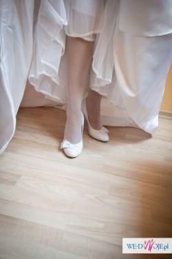 Buty ślubne - skórzane firmy RYŁKO białe