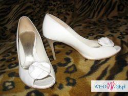 Buty ślubne skórzane modne i eleganckie