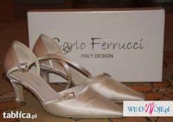 Buty ślubne, włoskie, skórzane Carlo Ferruci